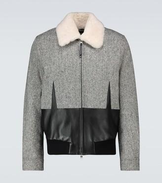 Alexander McQueen Shearling-trimmed paneled jacket