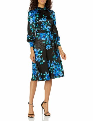 Donna Morgan Women's Dot Jacquard Midi Dress