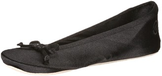 Isotoner womens Satin Ballerina Slippers