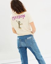 Maison Scotch Short Sleeve Tee with Bright Summer Graphics