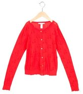 Bonpoint Girls' Open Knit Long Sleeve Cardigan