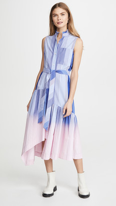 Derek Lam 10 Crosby Nerioa Dip Die Maxi Dress