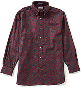 Daniel Cremieux Signature Big & Tall Long-Sleeve Printed Woven Shirt
