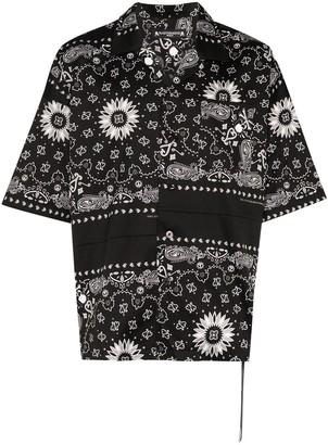 Mastermind Japan Bandana Print Cotton Shirt