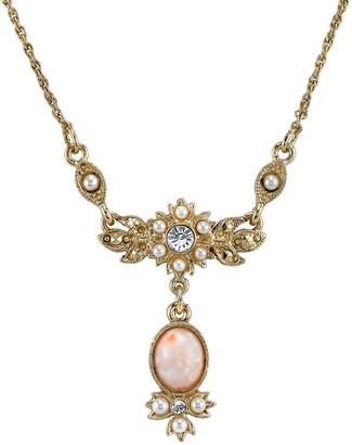 Downton Abbey Cabochon Y Necklace