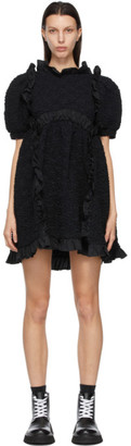 Cecilie Bahnsen Black Smock Lotta Dress