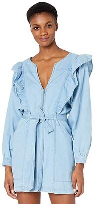 Free People Imogene Mini Dress (May Blue) Women's Dress