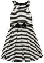 Knitworks Knit Works Belted Stripe U-Neck Dress - Girls' 7-16