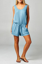 Love Stitch Lovestitch Drawstring Blue Romper