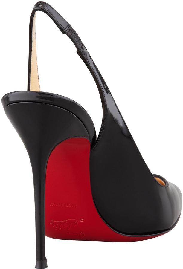 Christian Louboutin Flueve Pointed-Toe Slingback Pump, Black