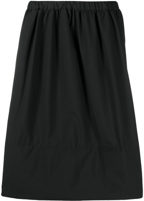 Comme des Garçons Comme des Garçons Full Wool Midi Skirt