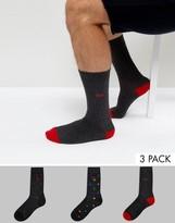 Pringle Socks In 3 Pack With Spot Print