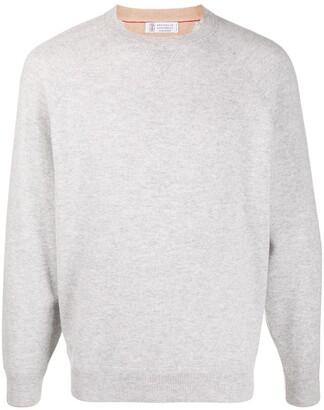 Brunello Cucinelli Long-Sleeve Grey Jumper