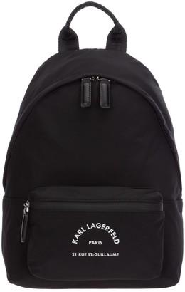 Karl Lagerfeld Paris Rue St-Guillaume Logo Backpack