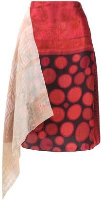 Marine Serre asymmetrical A-line skirt