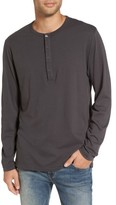 French Connection Men's Long-Sleeve Henley T-Shirt