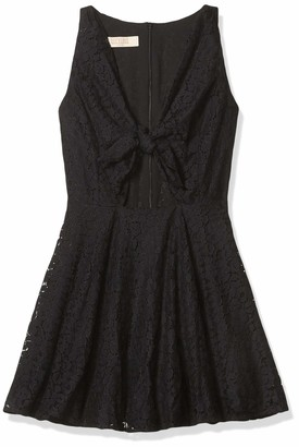 Lucy-Love Lucy Love Women's Lace Supernova Tie Front Dress