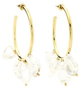 Lizzie Fortunato Keshi gold-plated hoop earrings