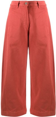 Henrik Vibskov Cropped Organic Cotton Trousers