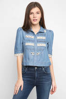 Plenty by Tracy Reese Victorian & Lace Button Down Top