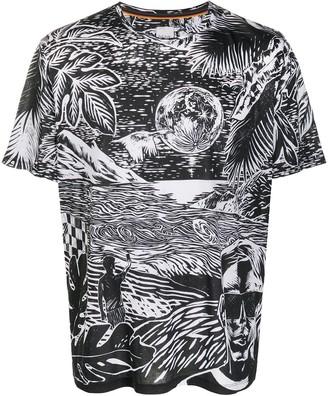 Paul Smith night sky print T-shirt