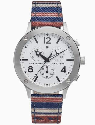 Lucky Brand Rockpoint Stripe Multi-Function Watch, 42mm