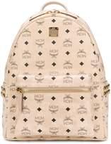 MCM logo print studded backpack