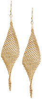 Kenneth Cole New York Mesh Twist Drop Earrings