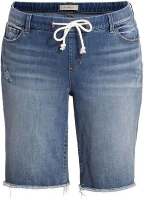 Slink Jeans, Plus Size Mid-Rise Denim Bermuda Shorts