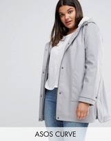 Asos Premium Raincoat With Borg Liner