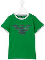 Armani Junior logo print T-shirt - kids - Cotton - 4 yrs
