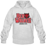 CHA Men's NCAA Arkansas State Red Wolves Teams Logo Hoodie- L