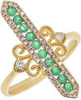 Diana M Fine Jewelry 14K 0.51 Ct. Tw. Diamond & Emerald Ring