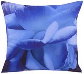 Belle Epoque Pinpoint Blue Floral Print Square Throw Pillow