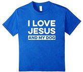 Womens I Love Jesus and My Dog T-Shirt Funny Christian Message Medium