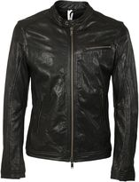 Dondup Top Snap Button Biker Jacket