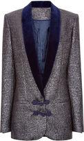 Racil Silver Brocade Draco Dinner Jacket