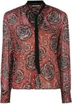 RED Valentino collar applique printed top