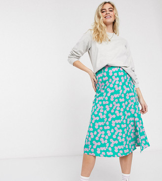 Wednesday's Girl Maternity midi skirt in smudge floral
