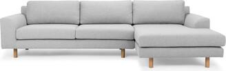 Calibre Furniture Masters Modular Sofa Light Grey Right Chaise