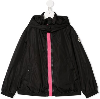 Moncler Enfant Logo Embroidered Hooded Jacket