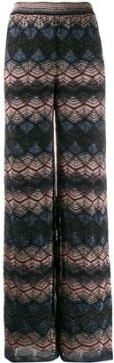 M Missoni embroidered wide-leg trousers