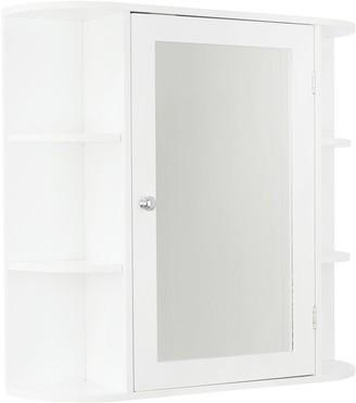 Lloyd Pascal Devonshire Mirrored Bathroom Wall Cabinet - White