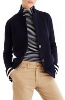 J.Crew Women's Stripe Lining Merino Wool Sweater Blazer
