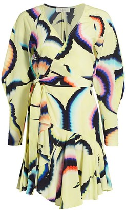 A.L.C. Enzo Silk-Chiffon Wrap Dress