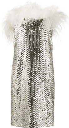 Saint Laurent Sequined Mini Dress