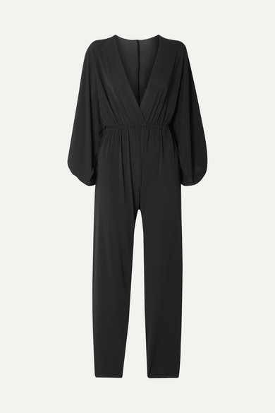 Eres Lou Oversized Wrap-effect Stretch-jersey Jumpsuit