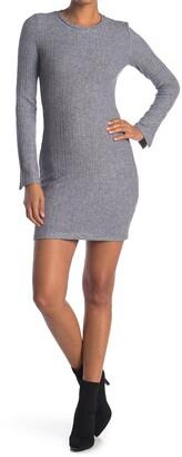 NSR Lucia Slit Ribbed Knit Dress