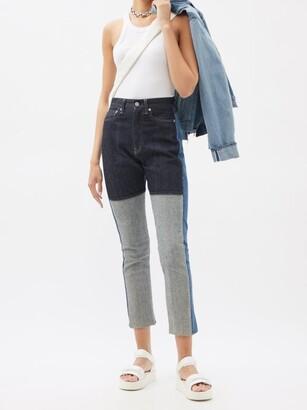 Kuro Monster Patchwork Slim-leg Jeans - Denim