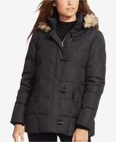 Lauren Ralph Lauren Faux-Fur-Trim Hooded Toggle Down Puffer Coat